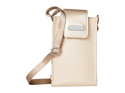 Baggallini New Classic RFID Phone Crossbody (Champagne Shimmer) Cross Body Handbags
