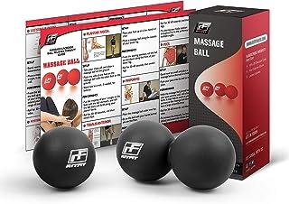 RitFit Cacahuete Masaje Bola de Lacrosse para Punto de liberación miofascial, Disparador Terapia Muscular, Nudos, Yoga y Terapia. Bono Sola Bola de Masaje