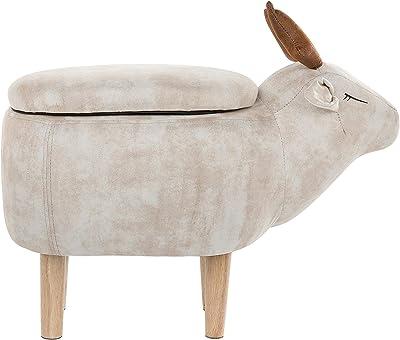 Beliani - Pouf pour Enfant - Reindeer - Tabouret en Forme De Renne, Beige