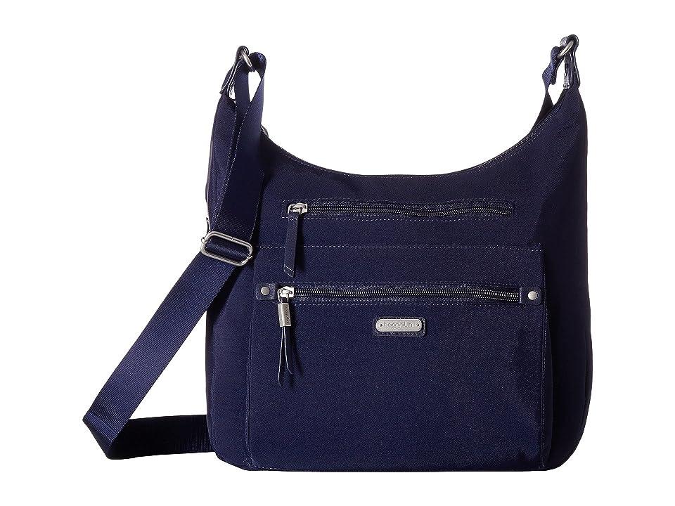 Baggallini New Classic Day Trip Hobo with RFID Phone Wristlet (Navy) Hobo Handbags