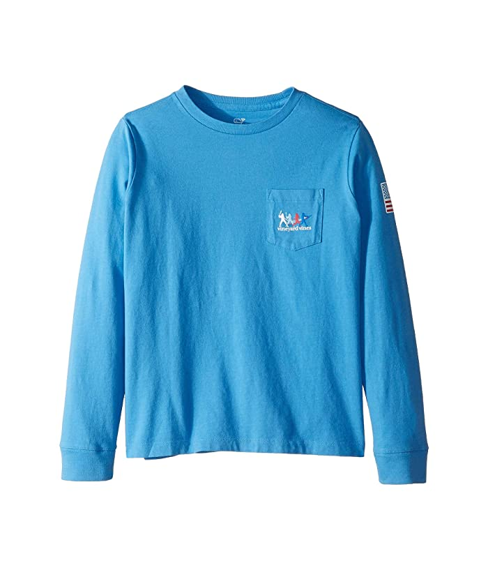 1212156d Vineyard Vines Kids Long Sleeve Homerun Pocket Tee (Toddler/Little ...