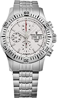 Revue Thommen Men's 'Air Speed' Automatic Chronograph Watch - Silver Dial with Silver Luminous Hands - Sapphire Crystal and Stainless Steel Bracelet Swiss Watch for Men 16071.6128