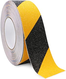 Bligo Anti Slip Safety Grip Tape, 2 Inch x 60 Foot, Non Skid Tread for Stairs, Steps, Floors, Caution Dangerous Zones, Indoor and Outdoor Use (Yellow and Black)