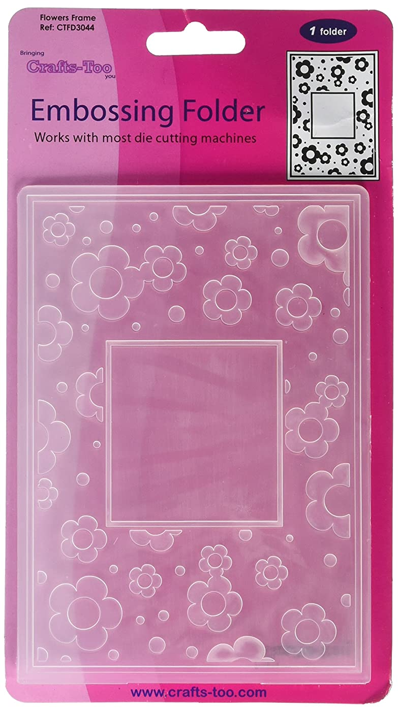 Crafts-Too CTFD3044 Embossing Folder, Flowers Frame