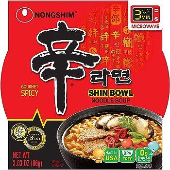 12-Pack Nongshim Shin Big Bowl Noodle Soup