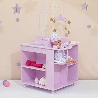Olivia's Little World - Twinkle Stars Princess Baby Doll Changing Station, Baby Care Activity Center, Role Play Nursery Ce...