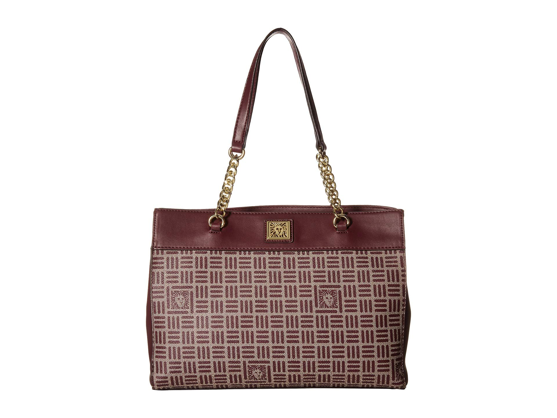 Logo Lion Anne Triple Compartment Cashmere Tote oxblood Klein Chain 1Bqfxvw