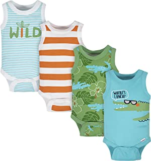 Gerber baby-boys 4-pack Sleeveless Onesies Bodysuit