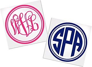 Yeti Monogram Decal Intials, Your Choice of Color & Style | Decals by ADavis