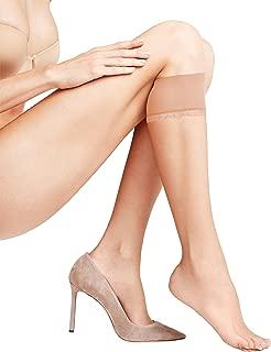 Falke Women's 1 Pair Shelina 12 Denier Ultra Transparent Knee Highs With Shimmer