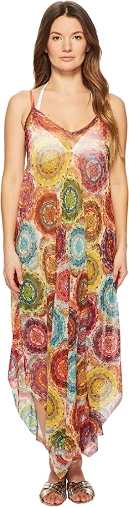 Printed Oversized Dress Cover-Up