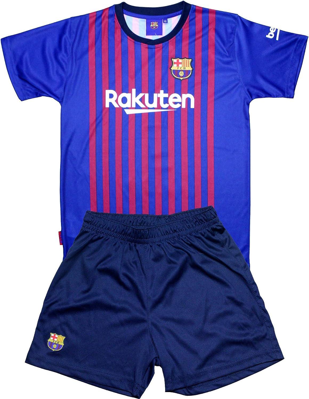 Conjunto Camiseta y pantalón 1ª Equipación 2018-2019 FC. Barcelona - Réplica Oficial Licenciado - Dorsal 17 Griezmann