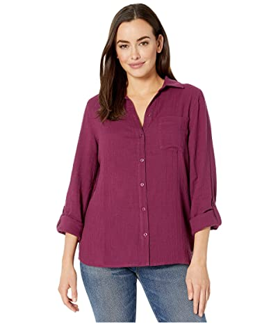 Jag Jeans Long Sleeve Adley Double Cloth Button-Up Shirt (Violet) Women