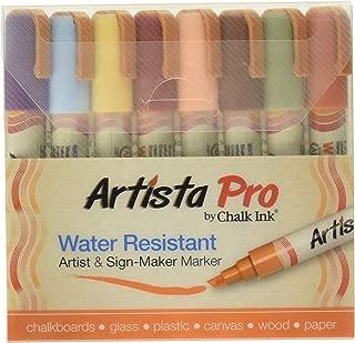 Chalk Ink Artista Pro Water Resistant Artist & Sign-Maker Marker Earthy Set of 8
