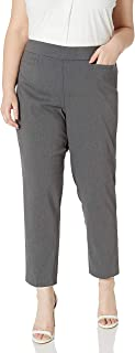 Alfred Dunner womens Allure Slimming Plus Size Stretch Pants - Modern Fit Pants