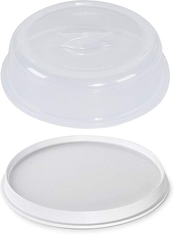 Nordic Ware Microwave 2 Sided Round Bacon And Meat Grill And 10 Inch Spatter Cover