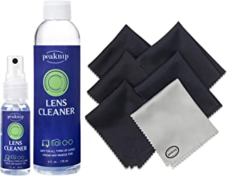 Eyeglass Lens Cleaner Kit - 1 oz. Spray Bottle and 6 oz. Refill Bottle + 6 Microfiber Cleaning Cloths - Safe for All Lenses, Eyeglasses and Screens
