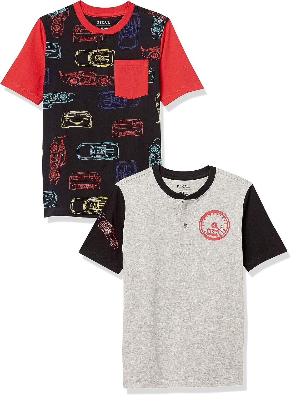Amazon Brand - Spotted Zebra Boys' Disney Star Wars Marvel Short-Sleeve Henley T-Shirts