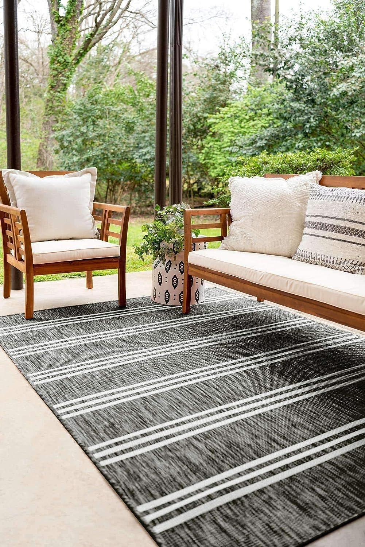 Unique Loom Jill Zarin Outdoor Geometric 直送商品 Modern Beige 今だけ限定15%OFFクーポン発行中 Collection