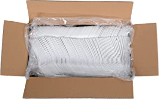 Daxwell Plastic Sporks, Medium Weight Polypropylene (PP), White, 5 3/8