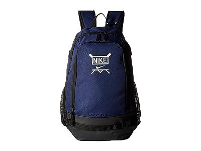 Nike Kids Vapor Clutch Bat Baseball Backpack (Midnight Navy/Black/White) Backpack Bags