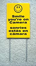 Peter Select Smile You're ON Camera Sign 8''x12'' w/Stake Security Surveillance Spanish Funny Retro Vintage Business Nostalgic Signs