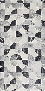 Ahujasons Mujeres bufanda de impresión geométrica Multi Coloured