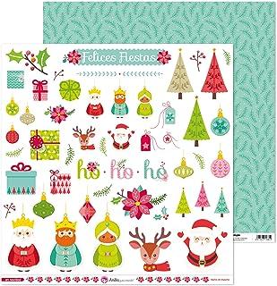 Anita y Su Mundo Collection de Noël Papiers de scrapbooking, papier, découpés, 30,5 x 30,5 cm