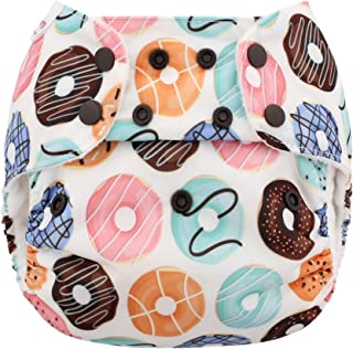 Blueberry Organic One Size Simplex All in One Cloth Diapers, Made in USA (Donuts)