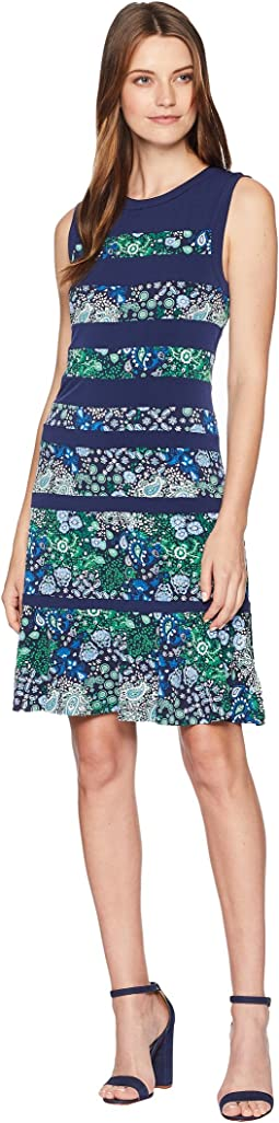 Paisley Remix Paneled Dress