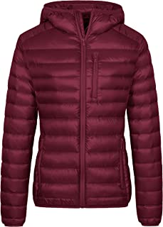 Women's Lightweight Packable Down Jacket Hooded Insulated Coat