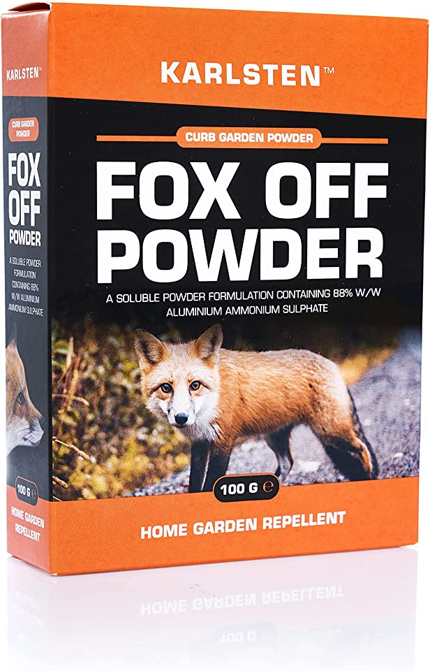 Karlsten Fox Deterrent High Strength Powder 2 x 50 G Anti Fouling & Digging Repellent For Garden Protection Makes 18 Litres