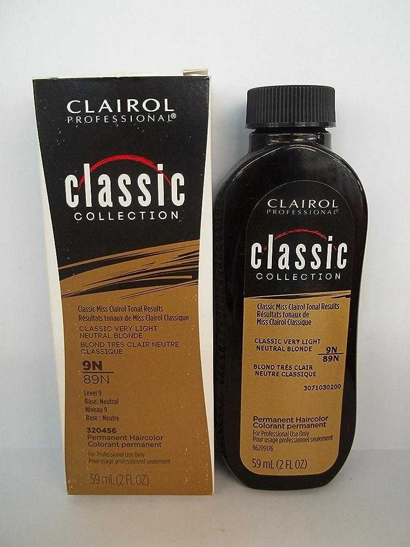 ラジカル相関する仲人Clairol プロクラシックコレクション9N / 89N非常LtのNTRLブロンド2オンス(59ミリリットル) 2フロリダ。オズ。クレイロールクラシックコレクションのボトル 9n / 89n - very light neutralブロンド