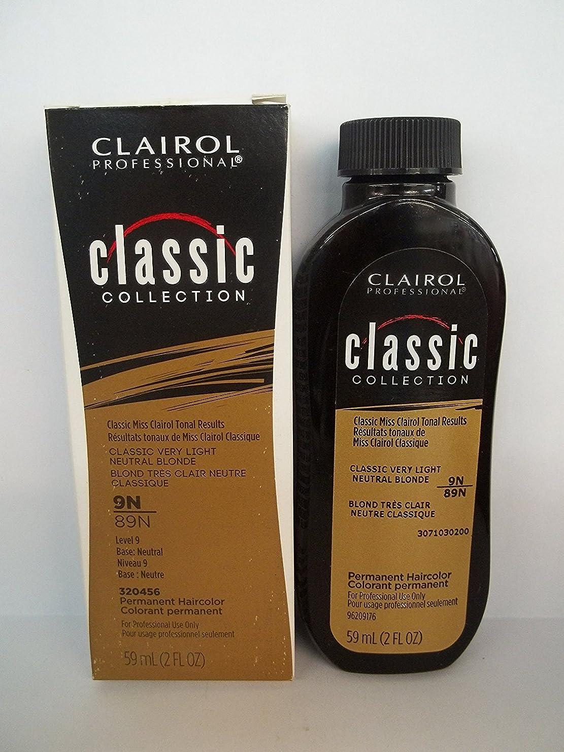 適切に消費者あなたはClairol プロクラシックコレクション9N / 89N非常LtのNTRLブロンド2オンス(59ミリリットル) 2フロリダ。オズ。クレイロールクラシックコレクションのボトル 9n / 89n - very light neutralブロンド