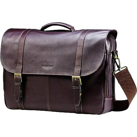 Samsonite Colombian Leather Flap-Over Messenger Bag