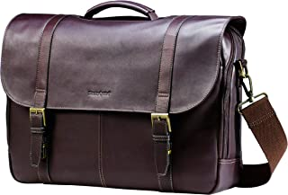 Samsonite Columbian Leather Flapover Case, Brown