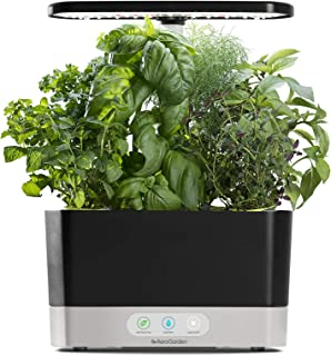 AeroGarden Black Harvest Indoor Hydroponic Garden, 2019 Model