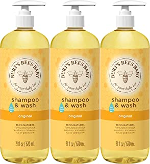 Burt's Bees Baby Shampoo & Wash, Original, 21 Ounces (Pack of 3)