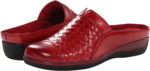 Dark Red Burnished Veg Leather