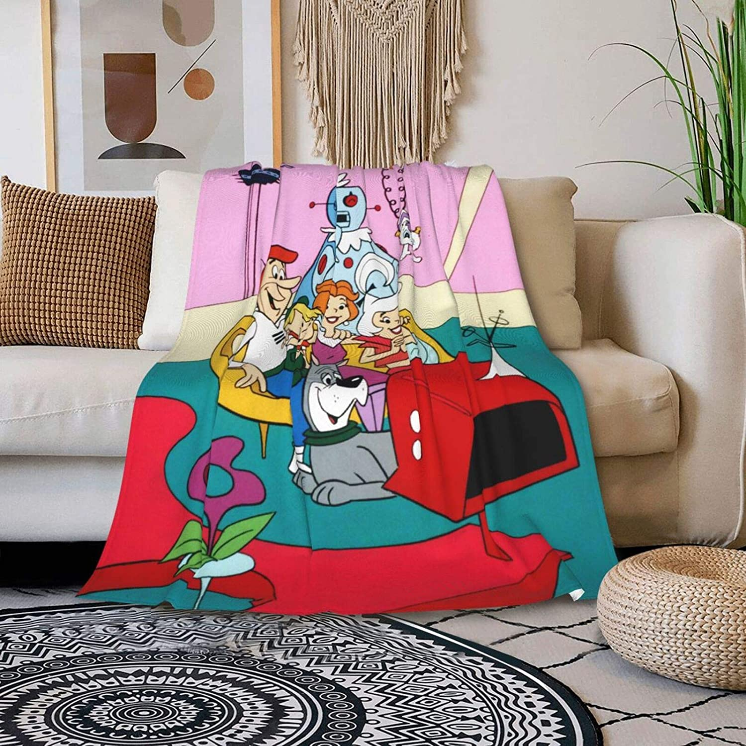 MNDERDAIEY Max 56% OFF The Jetsons Blanket NEW before selling ☆ Flannel Be Double Cartoon