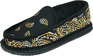 Trooper America Tiger Paisley Bandana Print Slip On House Shoe Slippers