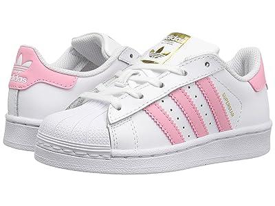 adidas Originals Kids Superstar (Little Kid) (White/Pink) Girls Shoes