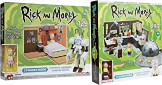 Spaceship Rick And Morty Figures Snowball Summer Characters You shall now call me snowball + Garage Scene Collectible Bundle