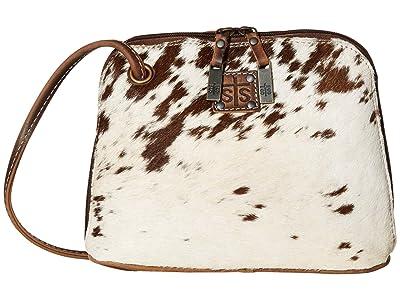 STS Ranchwear Cowhide Classic Crossbody (Cowhide/Tornado Brown) Handbags