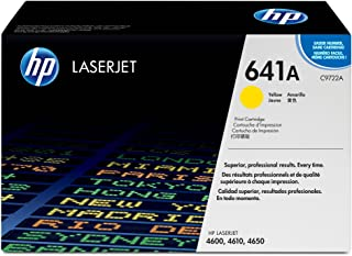 HP 641A (C9722A) Yellow Toner Cartridge for HP Color LaserJet 4600 4650 (Renewed)