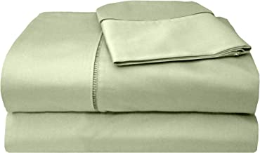 Veratex Legacy Collection 300 Thread Count 100% Egyptian Cotton Sateen Bed Sheet Set With Elegant Stitch Hem Design, King ...
