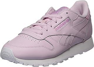 حذاء للجري كلاسيك جلد بشعار امامي وجانبي للنساء من ريبوك