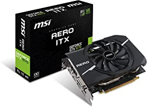 MSI Gaming GeForce GTX 1070 8GB GDDR5 SLI DirectX 12 VR Ready ITX Graphics Card (GTX 1070 AERO ITX 8G OC)