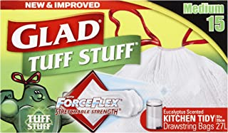 Glad Glad Kitchen Tidy Tuff Stuff Drawstring Bag, 15 count