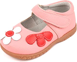 Girls Leather Bows Design Soft Round Toe Princess Dress Mary Jane Flat Shoes(Toddler/Little Kid)